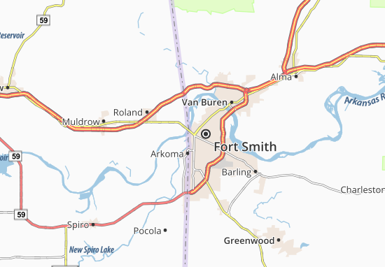 Fort Smith Map