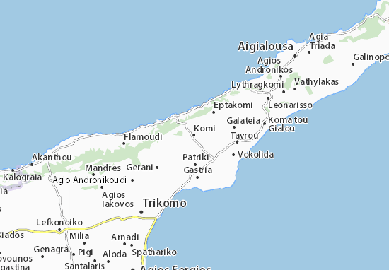 Karte Stadtplan Komi