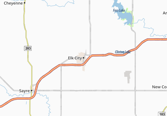 Elk City Map
