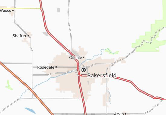 Map of Oildale - Michelin Oildale map - ViaMichelin