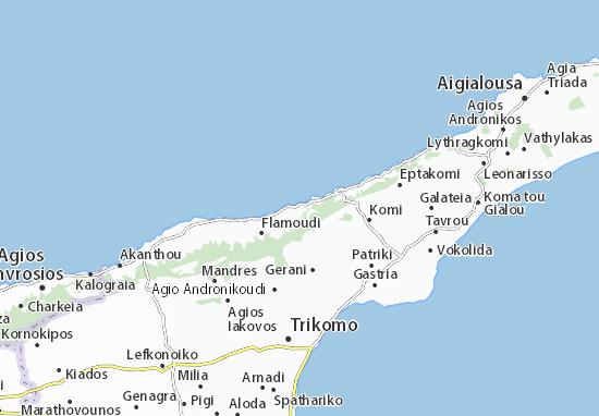 Karte Stadtplan Davlos