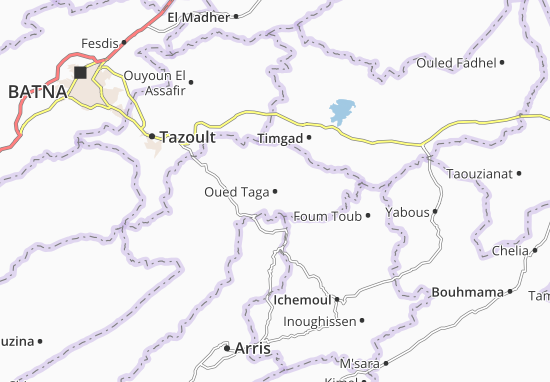 Map of Oued Taga - Michelin Oued Taga map - ViaMichelin