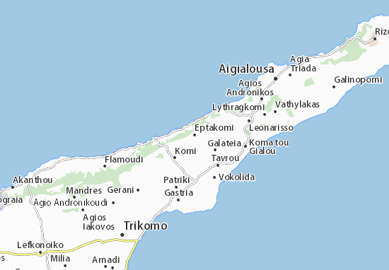 Karte Stadtplan Eptakomi