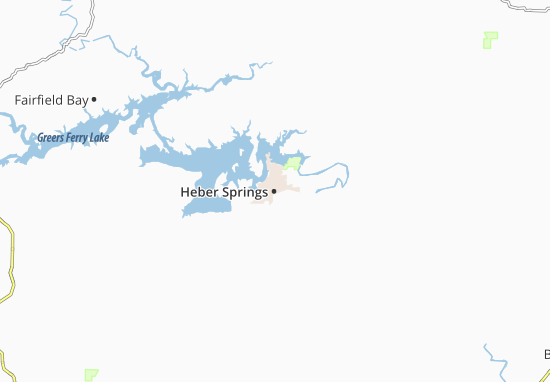Heber Springs Map