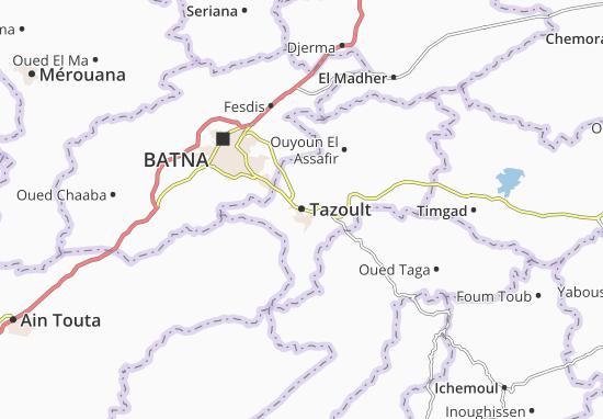 Map of Tazoult - Michelin Tazoult map - ViaMichelin