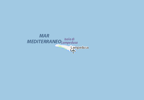Italien Karte Lampedusa.Karte Stadtplan Lampedusa Viamichelin