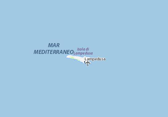 Lampedusa Sulla Cartina Geografica.Mappa Michelin Isola Di Lampedusa Pinatina Di Isola Di Lampedusa Viamichelin