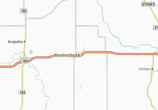 Weatherford Map