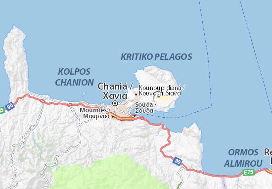 Mapa Plano Kounoupidianá