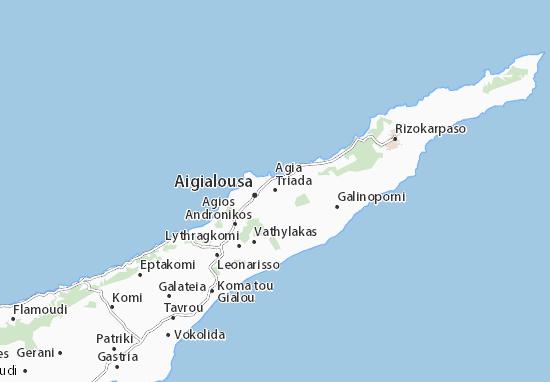 Karte Stadtplan Agia Triada
