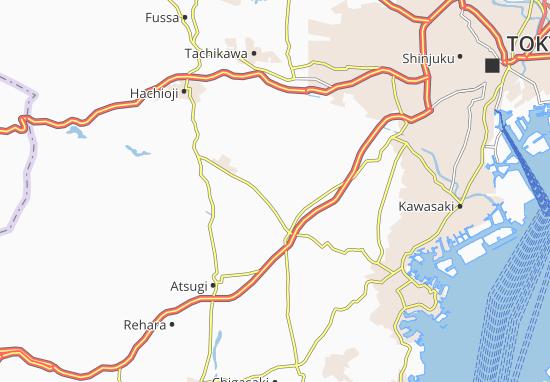Map Of Machida Michelin Machida Map ViaMichelin - Hachiōji map