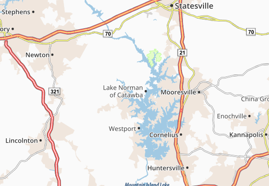 Lake Norman of Catawba Map
