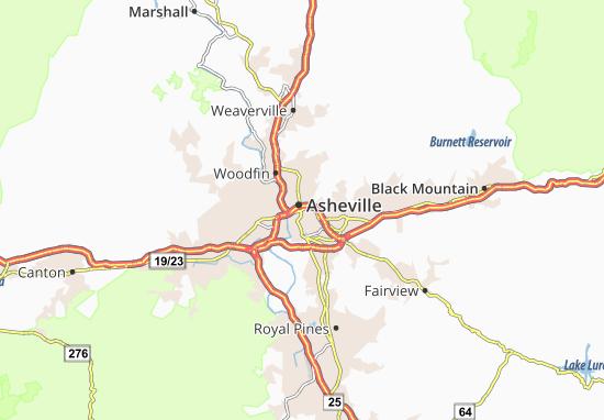 Map of Asheville Michelin Asheville map ViaMichelin – Asheville Tourist Attractions Map