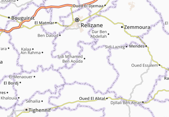 Carte-Plan Sidi M'hamed Ben Aouda