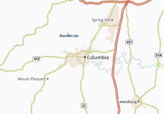 Map of Columbia - Michelin Columbia map - ViaMichelin