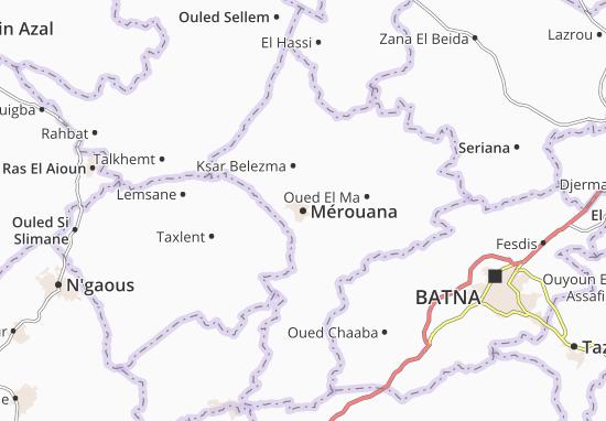 Map of Mérouana - Michelin Mérouana map - ViaMichelin