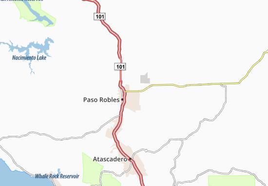 Carte-Plan El Paso de Robles