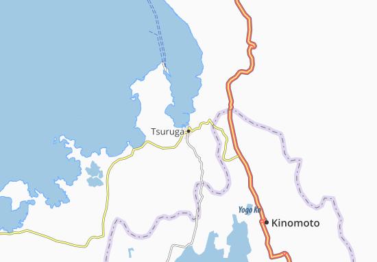 Kaart Plattegrond Tsuruga