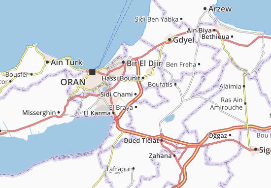 Carte-Plan Sidi Chami