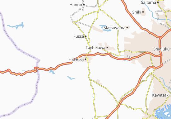 Map Of Hachioji Michelin Hachioji Map ViaMichelin - Hachiōji map