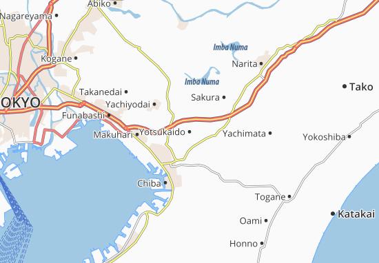 Yotsukaido Map