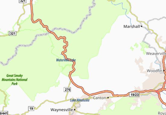 Fines Creek Map