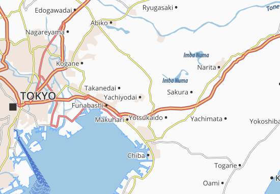 Yachiyodai Map