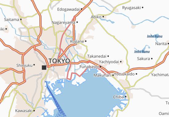 Kaart Plattegrond Ichikawa