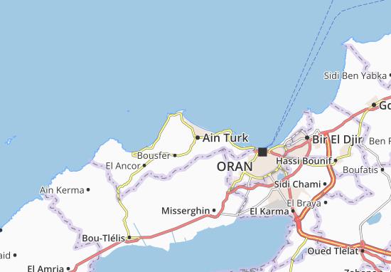 Carte-Plan Ain Turk