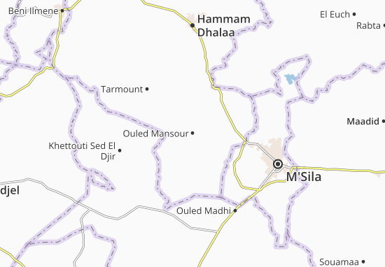 Carte-Plan Ouled Mansour