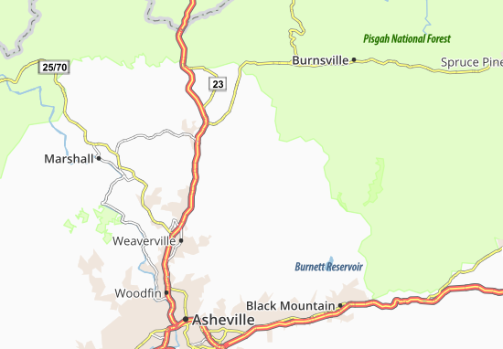 Barnardsville Map