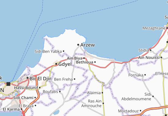 Carte-Plan Ain Biya