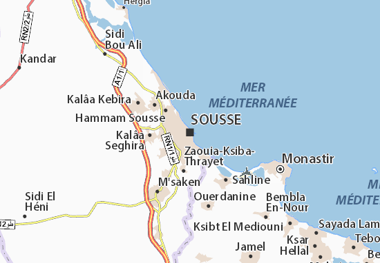 Sousse Tunisia Map Sousse Map: Detailed maps for the city of Sousse   ViaMichelin