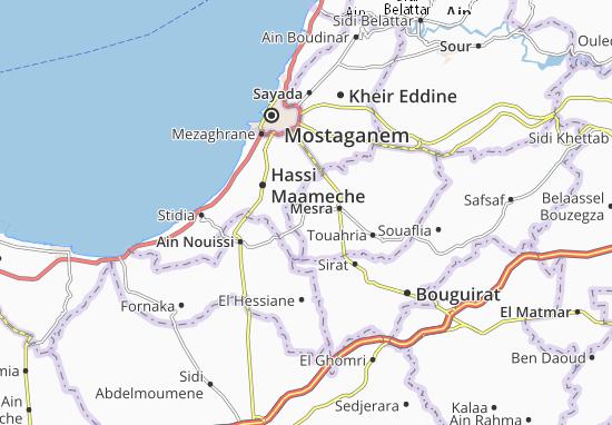 Carte-Plan Ain Sidi Cherif