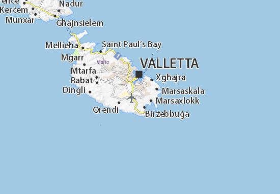 Kaart Plattegrond Għaxaq