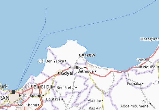 Carte-Plan Arzew