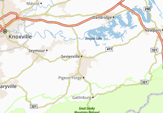 Carte-Plan Sevierville