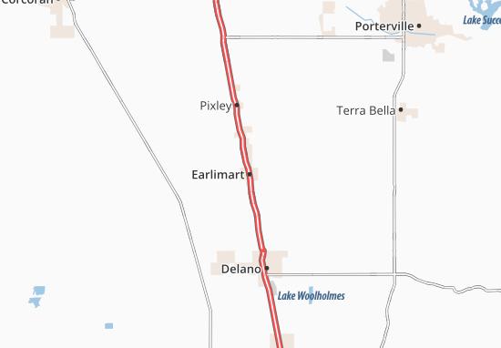 Earlimart Map