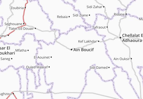 Carte-Plan Ain Boucif