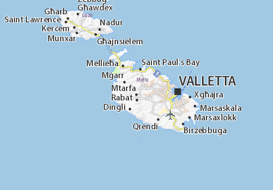 Mtarfa Map