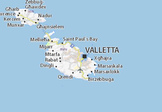 Ta'Xbiex Map