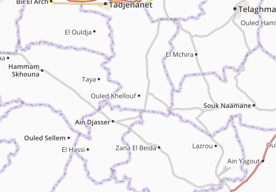 Carte-Plan Ouled Khellouf