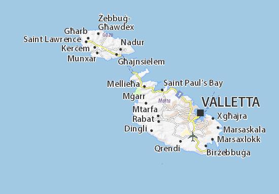 Ghajn Tuffieha Map