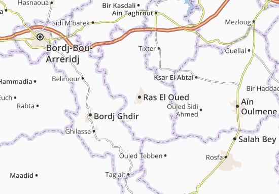 Carte Algerie El Oued.Carte Detaillee Ras El Oued Plan Ras El Oued Viamichelin