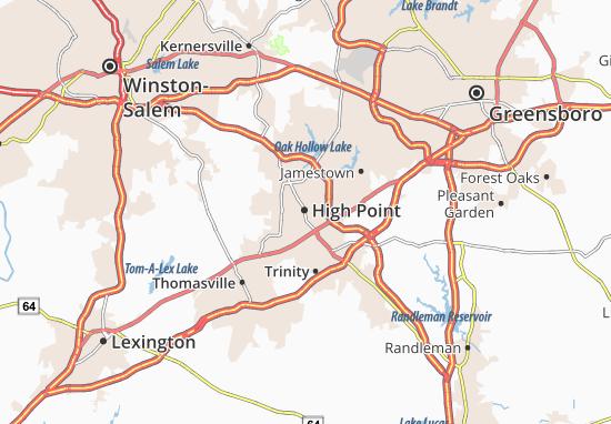 Kaart Plattegrond High Point