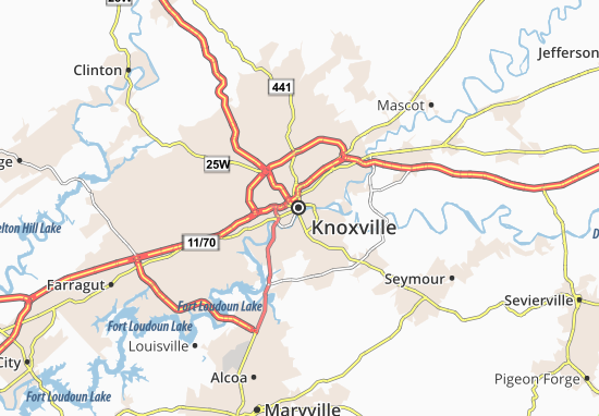 Map of Knoxville - Michelin Knoxville map - ViaMichelin Knoxville Map on osceola township map, westover map, tn interstate 40 map, spenceville map, columbia tn map, coudersport map, tellico map, south fulton map, tennessee map, nashville map, chattanooga map, johnson university map, maryville map, ville platte map, watson's map, los angeles map, beckley map, carthage tn map, virginia university map,