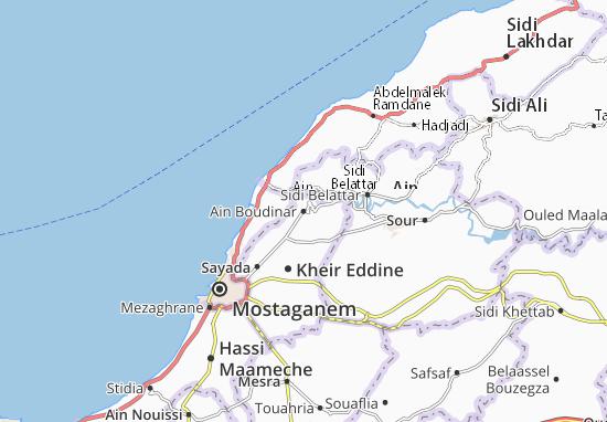 Carte-Plan Ain Boudinar