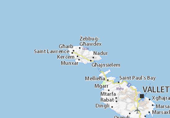 Kaart Plattegrond Xewkija