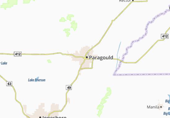 Paragould Map