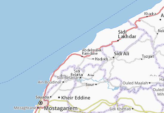 Carte-Plan Abdelmalek Ramdane